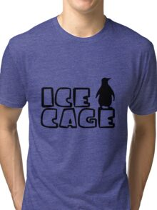 Ice Cage Penguin Tri-blend T-Shirt
