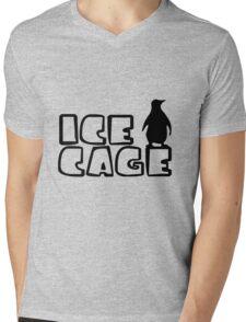 Ice Cage Penguin Mens V-Neck T-Shirt