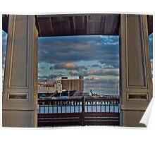 Piers Park View of the Hyatt in East Boston *featured Poster