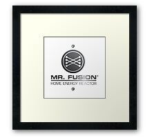 Back to the Future II Mr. Fusion Logo Framed Print