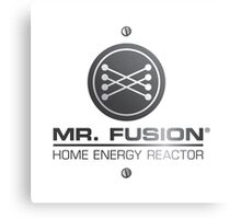 Back to the Future II Mr. Fusion Logo Canvas Print
