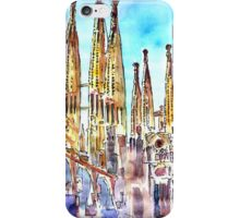 Sagrada Famila in Barcelona with Blue Sky iPhone Case/Skin