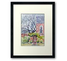 The Poplars Framed Print