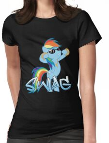 Rainbow Swag Womens Fitted T-Shirt