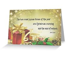 Christmas Card - Alice Cooper Greeting Card