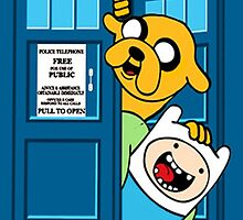 Tardis meets Jake and Finn by GalaxyTime