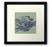 Ocean and Love Framed Print