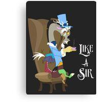 My Little Pony - MLP - Discord - Like a Sir Canvas Print
