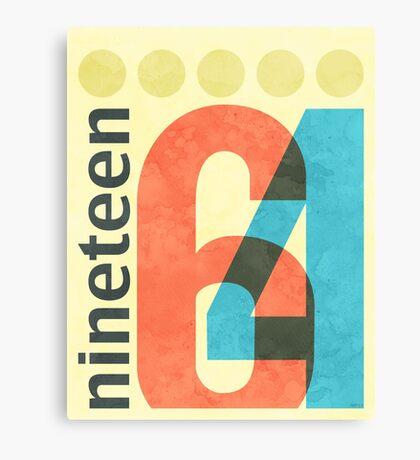 Nineteen 64 Canvas Print