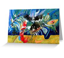 Insects and Birds Greeting Card
