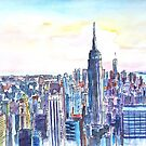 Panorama Of Manhattan Skyline With Brooklyn by artshop77