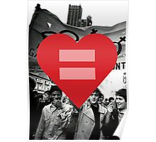 Equal Love Stonewall Heart Poster