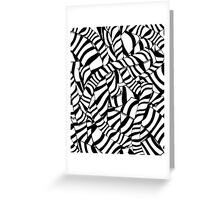 Modern Abstract Black White Zebra Stripes Pattern Greeting Card
