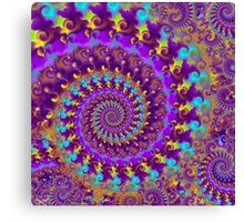 Crazy Psychedelic Fractal in Purple Canvas Print