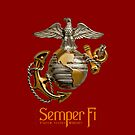 U.S. Marines - Semper Fi - iPhone Case by Buckwhite