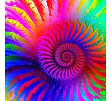 Psychedelic Spiral Fractal Photographic Print