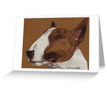 Bull Terrier Vignette Greeting Card