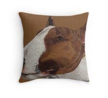 Bull Terrier Vignette Throw Pillow