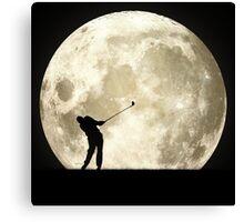 Golfing At Night Canvas Print