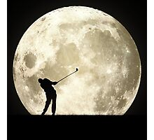 Golfing At Night Photographic Print