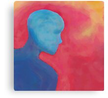 Silhouette in Primary Colors Canvas Print