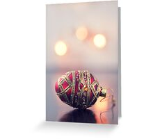 Red & gold christmas decoration Greeting Card