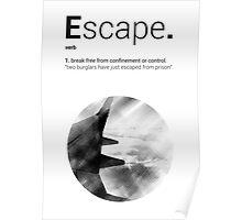 Luke Roberts / Escape / Cross Hatch Poster