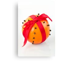 Orange with red ribbon Canvas Print