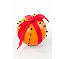 Orange with red ribbon Photographic Print