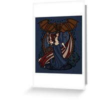 Elizabeth Nouveau Greeting Card