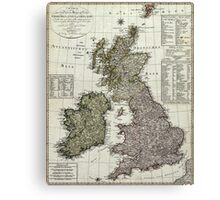 Antique Map of the British Isles Canvas Print