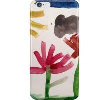 colorful flowers and blue sky iPhone Case/Skin