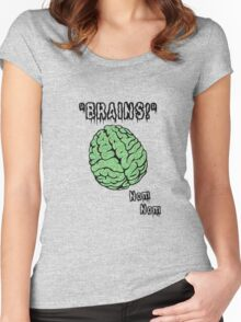 Brains! Zombie Apparel Women's Fitted Scoop T-Shirt