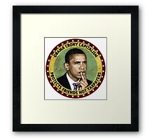 Obama Crony Capitalism Framed Print