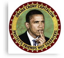 Obama Crony Capitalism Canvas Print