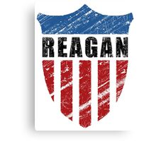 Reagan Patriot Shield Canvas Print
