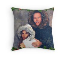 """ Merry Christmas from Pop's & Spy "" Throw Pillow"
