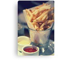 Parmesan Truffle French Fries Canvas Print