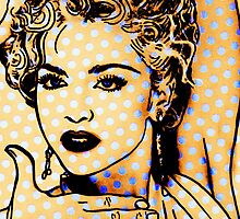 Madonna on Blue Dots  by ricardogarcia1