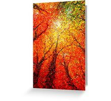 autumn glimmer Greeting Card