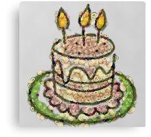 Fruit & Vegetable Birthday Cake Canvas Print