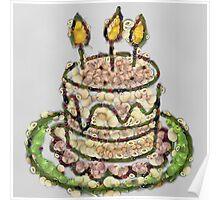 Fruit & Vegetable Birthday Cake Poster