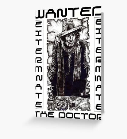 Wanted - The Doctor Greeting Card