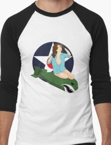 Nose Art Chantel Men's Baseball ¾ T-Shirt