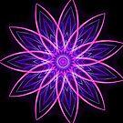Fractal Flower Purple -  by Leah McNeir