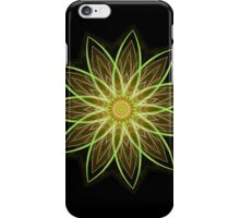 Fractal Flower Yellow  iPhone Case/Skin