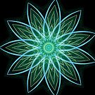 Fractal Flower Green by Leah McNeir