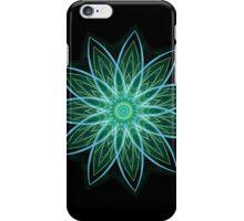 Fractal Flower Green iPhone Case/Skin