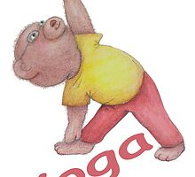 Flexible Yoga Bear in triangle pose by Monica Batiste