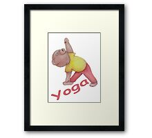 Flexible Yoga Bear in triangle pose Framed Print